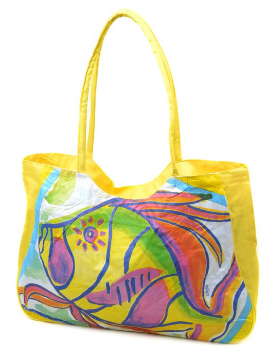 Сумка Жіноча Пляжна текстиль 1329 yellow