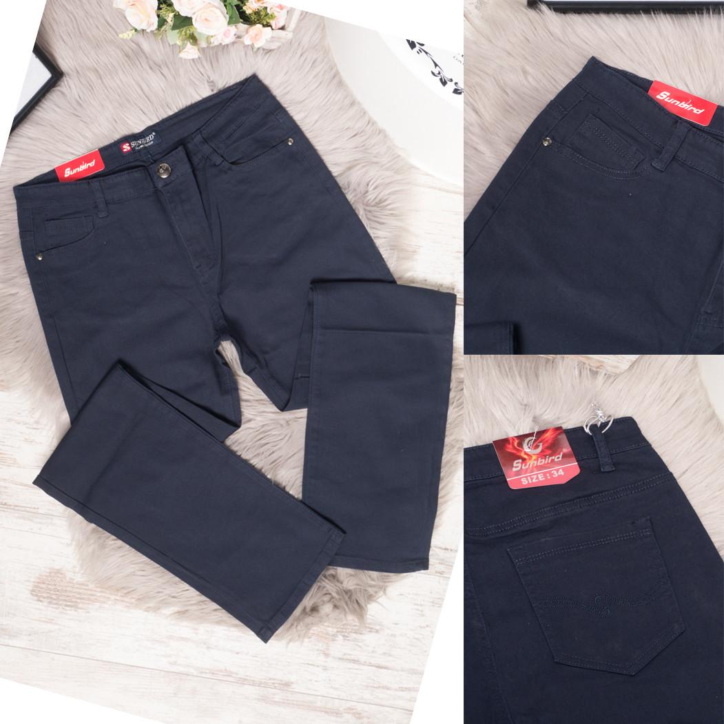 9760-R темно-синие Sunbird джинсы женские батальные летние стрейчевые (31,32,33,34,35,36,38, 7 ед.)