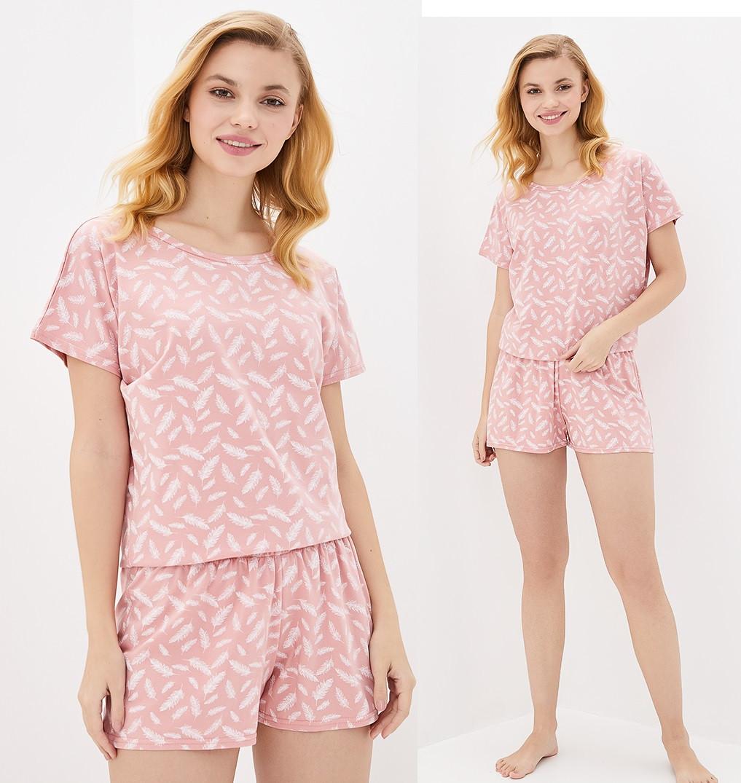 Домашний комплект с шортами и футболкой женский трикотажный (хлопковый)