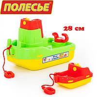 """Детские кораблики для ванной, №402: буксир """"Лагуна"""", кораблик №4 зеленый (41227-2), Полесье"""