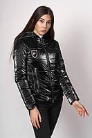 Куртка демисезонна на девочку 158-164 Смарагд подросток Черный