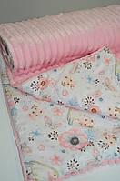 Детский плюшевый плед воробушки, в кроватку и коляску