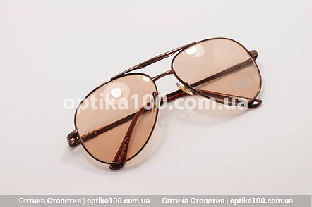 Окуляри хамелеони АВІАТОРИ коричневі, фото 2