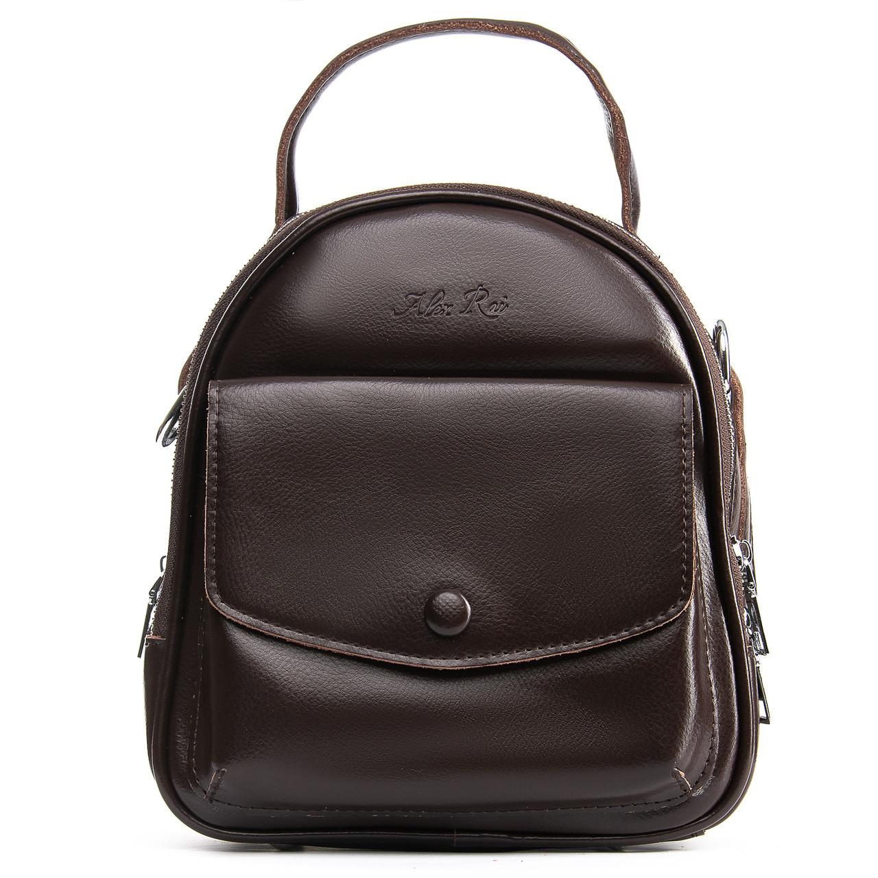 Сумка Женская Рюкзак кожа ALEX RAI 09-2 2229-220 brown