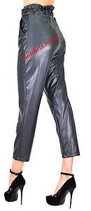 Кожаные штанишки момы эко-кожа графит