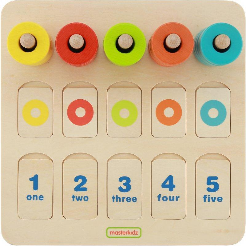 Игровой набор для изучения цветов и счета. Учебный планшет Masterkidz MK01757