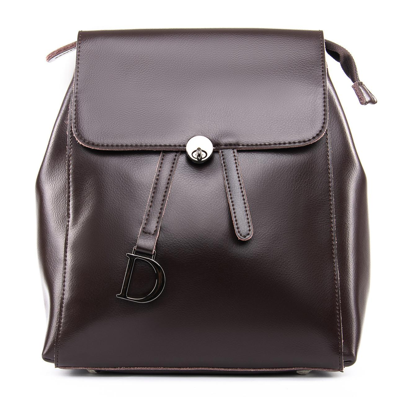 Сумка Женская Рюкзак кожа ALEX RAI 09-3 360 brown