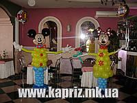 Микки Маус  и Минни из шаров