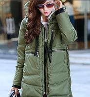 Куртка парка с капюшоном женская