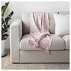 Плед IKEA KAPASTER белый с оттенком розовый 130x170 см 104.025.82, фото 3