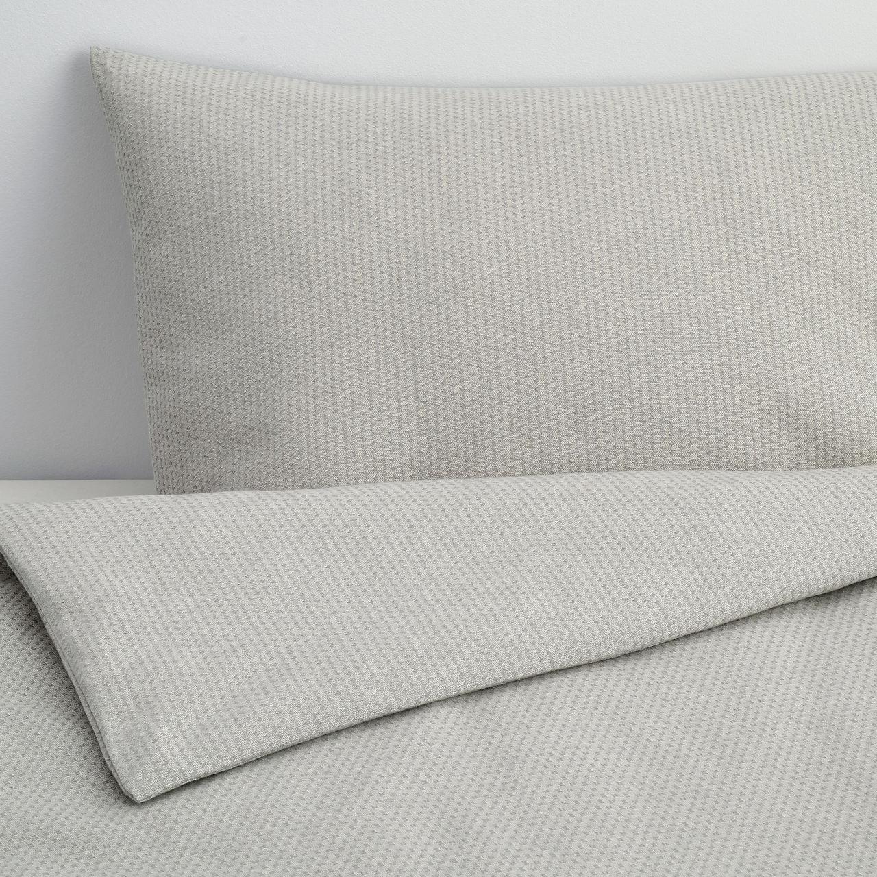 Комплект постельного белья IKEA ÄNGSLILJA 150x200/50x60 см серый 604.484.22