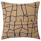 Наволочка на подушку IKEA VÄRMER джут синий 50x50 см 804.409.86, фото 2