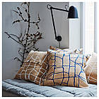 Наволочка на подушку IKEA VÄRMER джут синий 50x50 см 804.409.86, фото 3