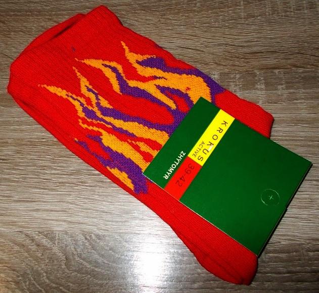 Носки мужские теннисные Огонь красные размер 42-45