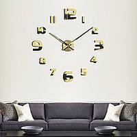 3D большие часы на стену 4227 Gold
