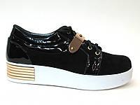 Туфли на белой подошве слипоны №5090
