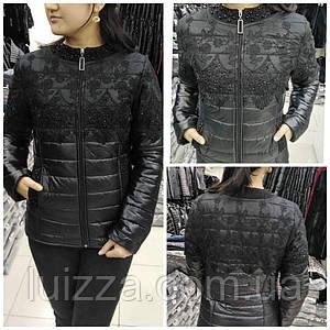 Куртка демисезон с гипюром EZE (Турция) 48-50  р
