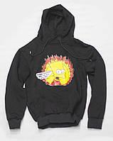 Худи унисекс Bart черное