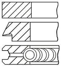 Комплект колец на поршень BMW 5 (E39) / BMW 5 (E60) / BMW 5 Touring (E39) 1995-2010 г.
