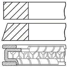 Комплект колец на поршень SMART CABRIO (450) / SMART CITY-COUPE (450) 1998-2004 г.