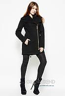 Женское пальто из кашемира 8537 черное Деми-44