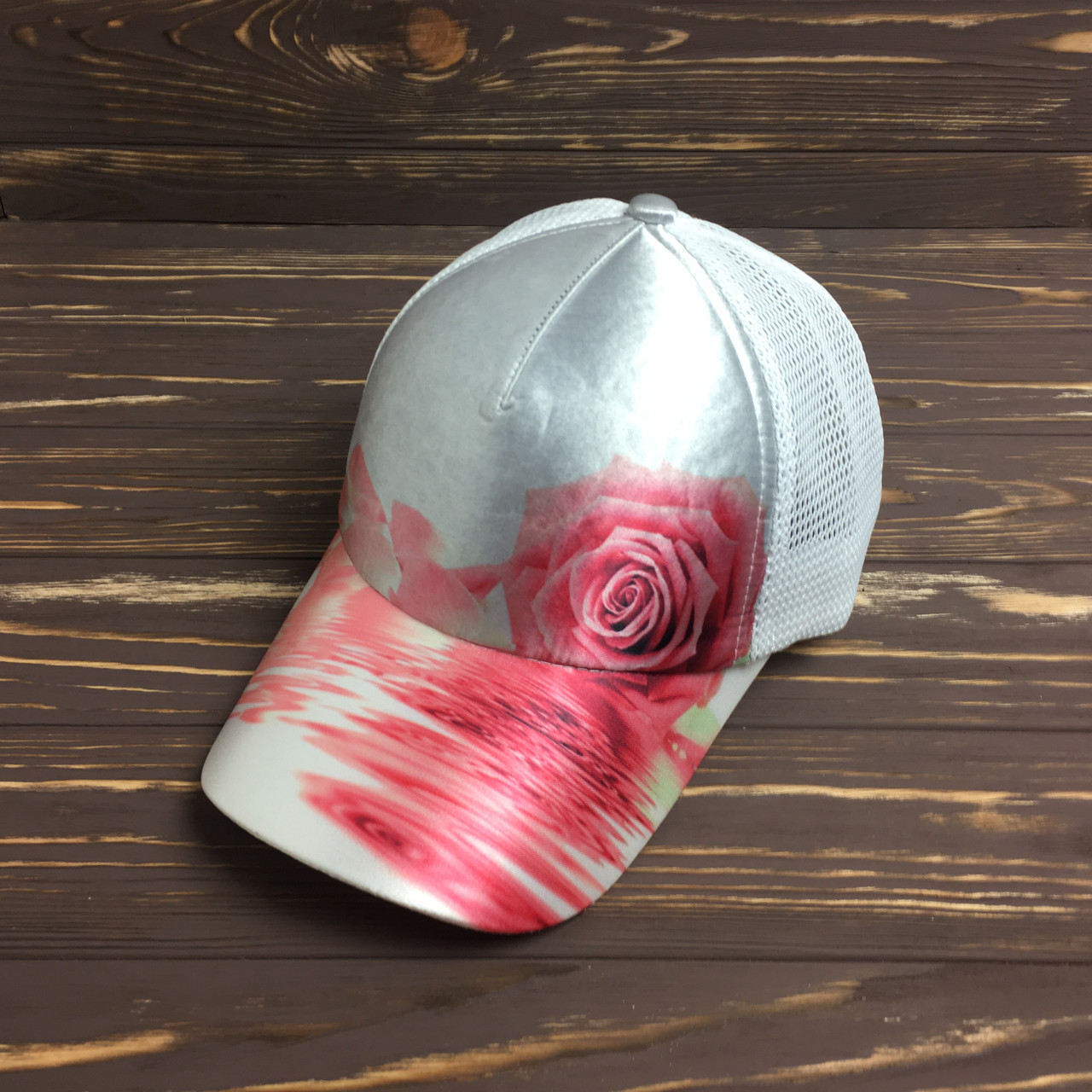 Кепка с сеткой - pink rose