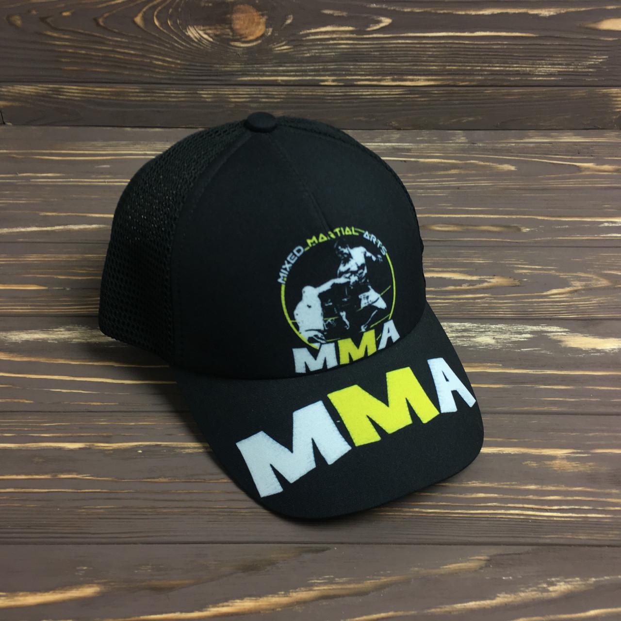 "Кепка- бейсболка  ""MMA"" с сеткой"