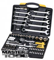 MasterTool Набор ключей и насадок торцевых PROFI 1/4 - 1/2 , трещотка 72Т, 82 шт, кейс, Арт.: 78-5182