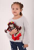 М'яка лялька Українка тип шарнірна дівчинка.