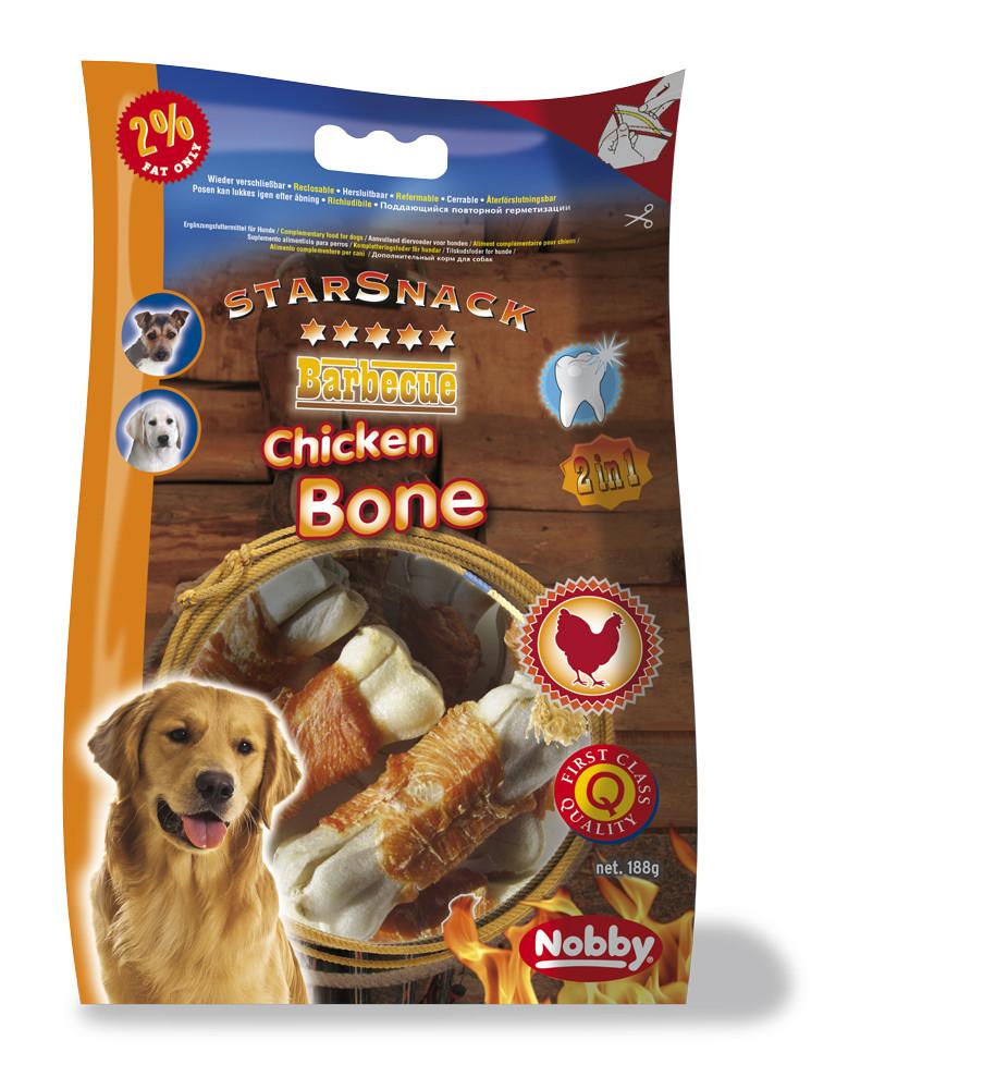 Лакомство для собак косточка с курицей 7,5см, 193г , Nobby