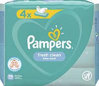 Детские Влажные Салфетки Pampers Fresh Clean 4х52 шт