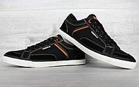 Кросівки - кеди чоловічі демісезонні чорні (15923-1)