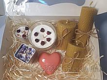 Подарочный набор свечи ручной работы натуральные