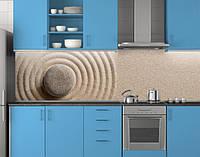 Пластиковый кухонный фартук ПВХ Песок и камень, Самоклеящаяся стеновая панель для кухни, Текстуры, бежевый