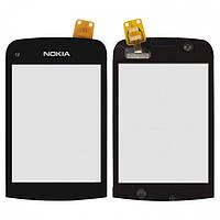 Touchscreen (сенсорный экран) для Nokia C2-02 / C2-03, черный, оригинал