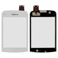 Touchscreen (сенсорный экран) для Nokia C2-02 / C2-03, белый, оригинал