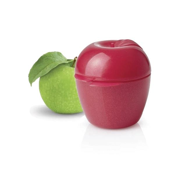 Контейнер Яблоко Tupperware в бордовом цвете с блестками