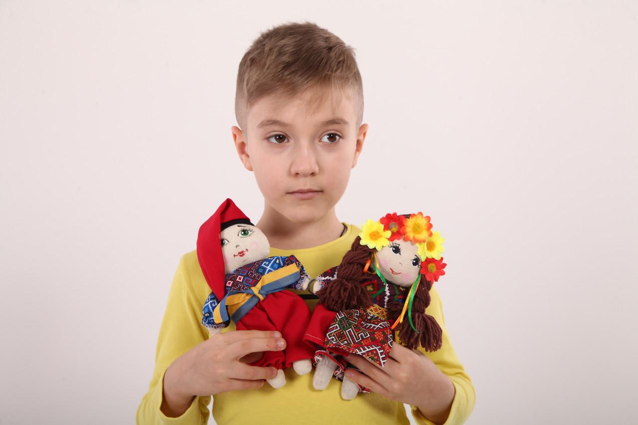 Кукла Украинка пара малая танцующая