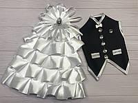 Одяг на весільне шампанське білого кольору