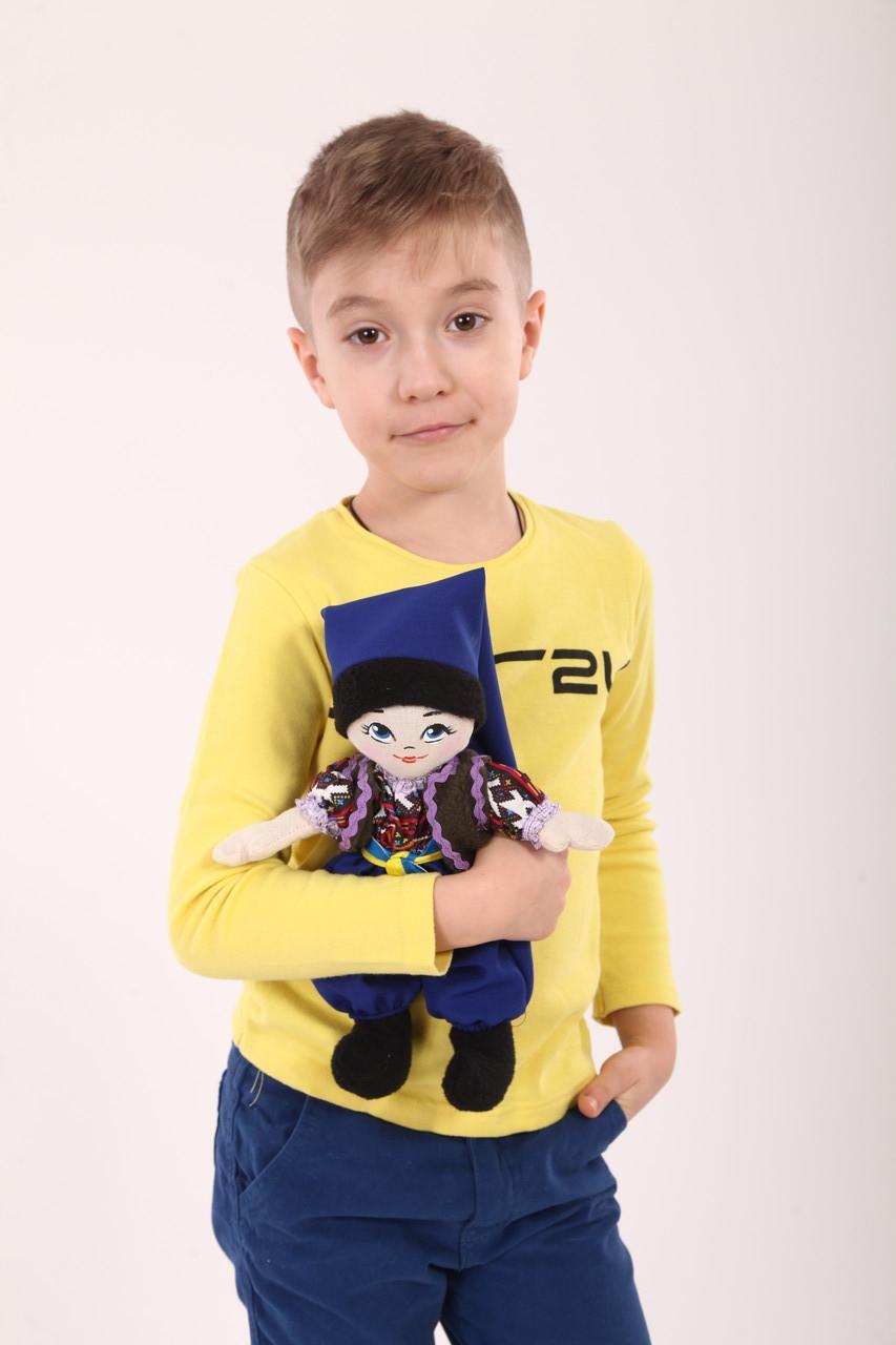 М'яка лялька Українка тип шарнірна хлопчик