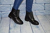 Дизайнерские женские  ботинки из кожи, размеры 36-41