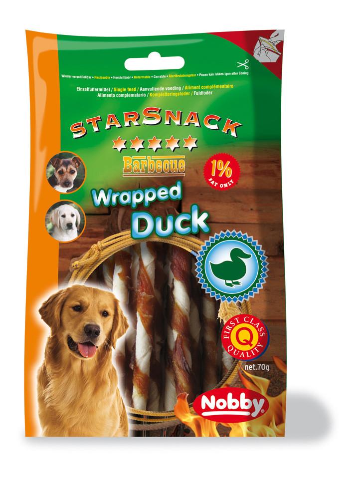 Лакомство для собак утиные палочки 70г, Nobby