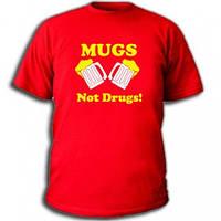 Футболки с приколами Mugs. Not drugs