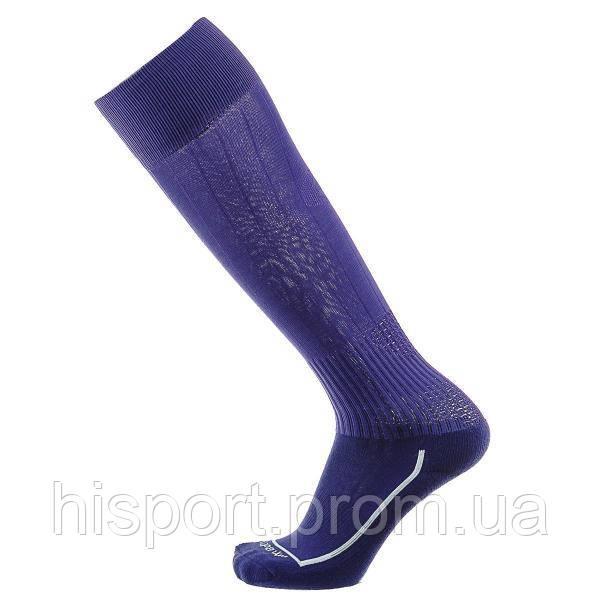 Футбольные гетры однотонные фиолетовые с трикотажным носком Europaw