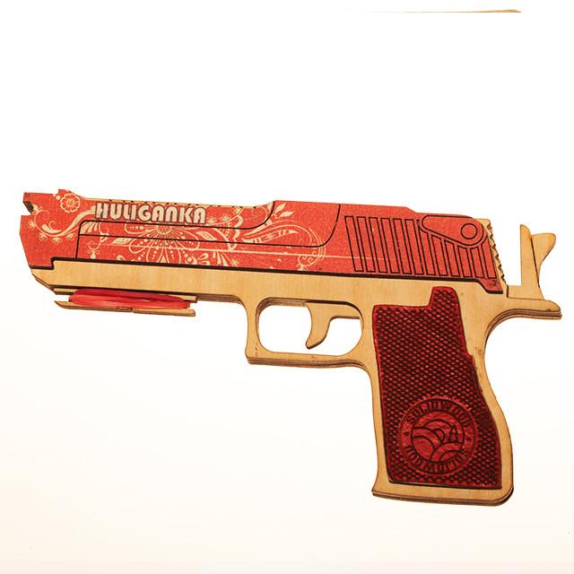 Набір деререв'яних резинкострілів DaisySign Gift Set HULIGANKA (red)