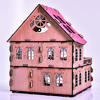 Большой кукольный домик из дерева c мебелю  H-002