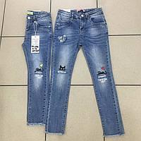 Модные детские джинсы  для девочек оптом H&H