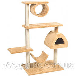 Когтеточка Городок 2 для кошек ТМ Природа 65х50х124см