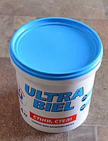 Краска акриловая  снежно-белая для стен и потолков Ultra-Бiel (Ультра белая) Sniezka  (1,4кг), фото 1