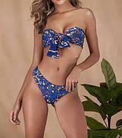 Стильний синій купальник, фото 1